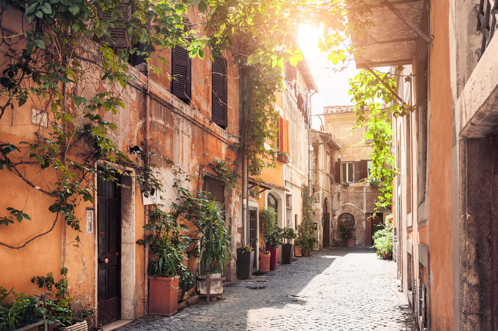 Street in Rome Old Town