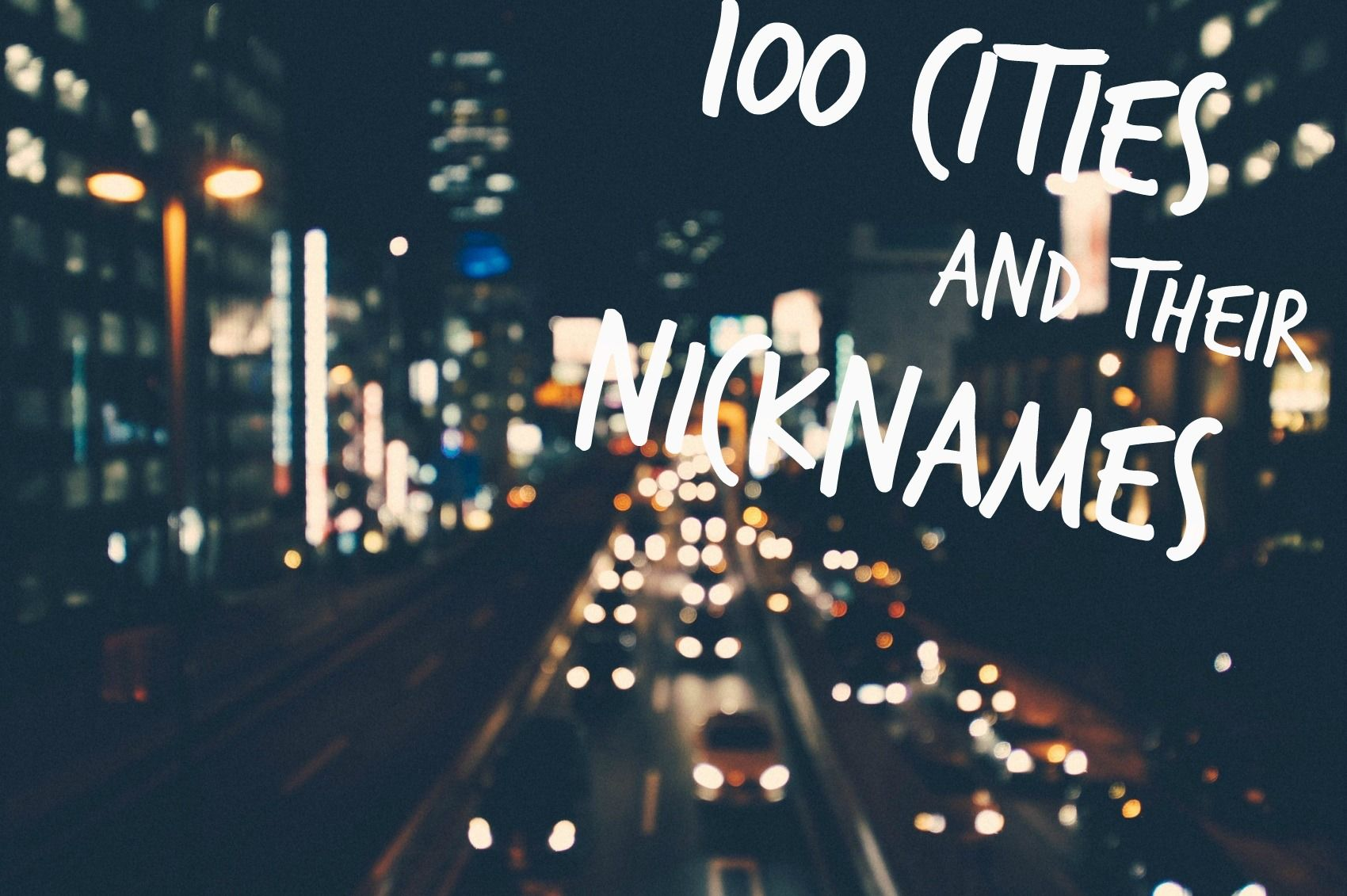 Cities Nicknames