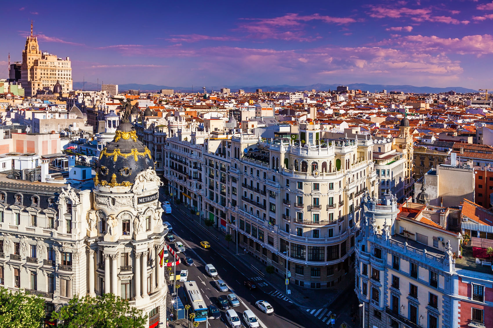 Madrid's main boulevard