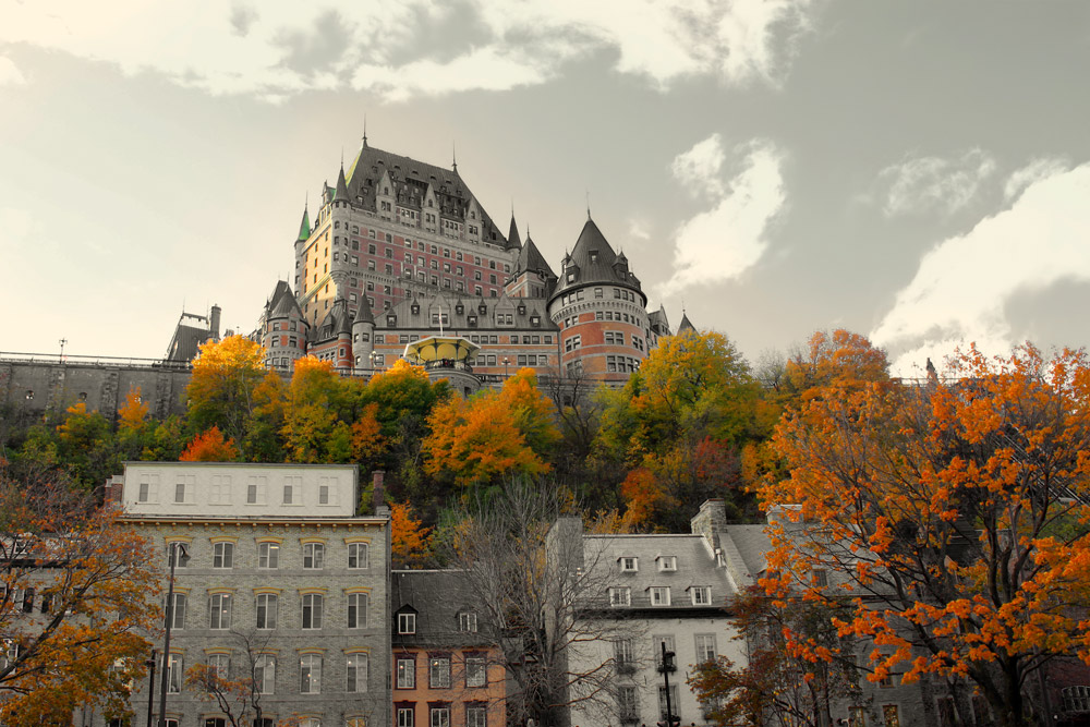 Quebec City in autumn