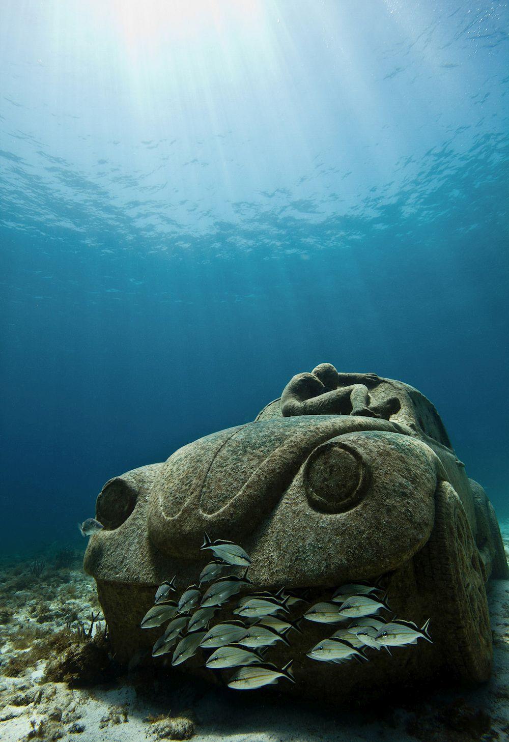 Underwater VW Beetle