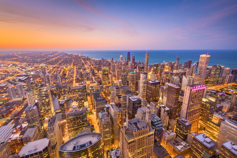 Chicago seen from above
