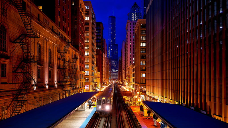 Train station in Chicago