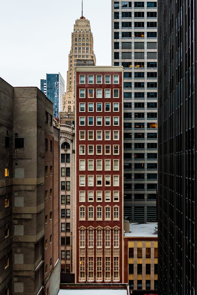 Tall and narrow building in Chicago