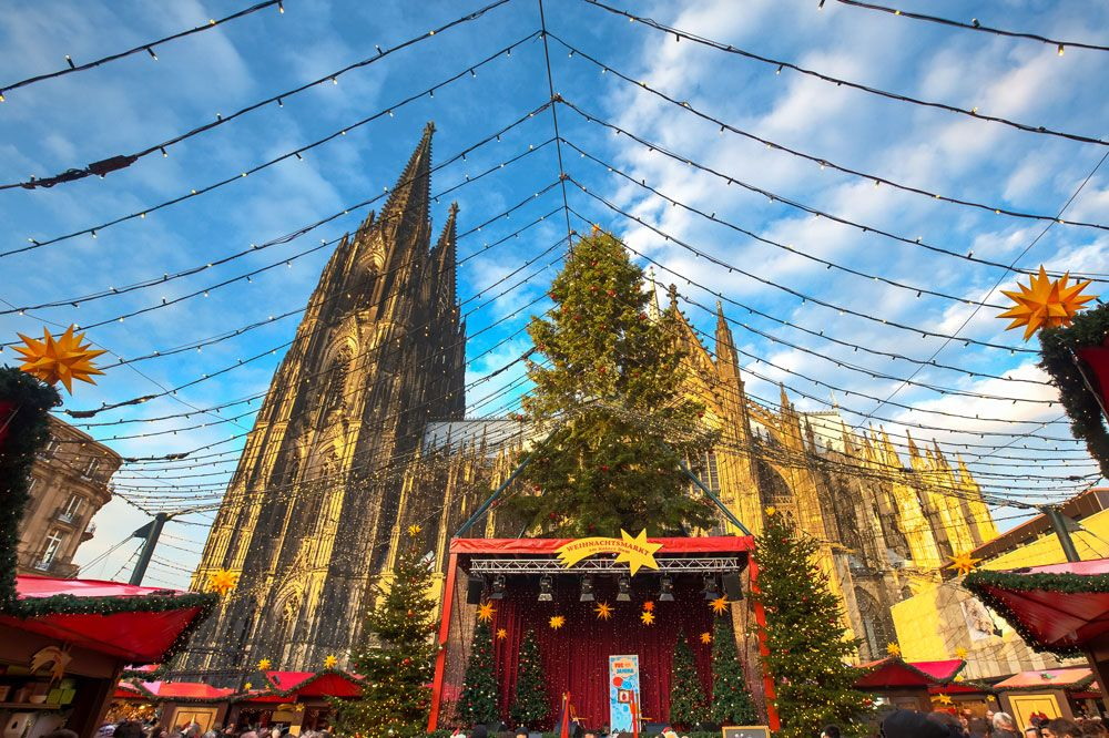 Christmas market in Cologne, Germany