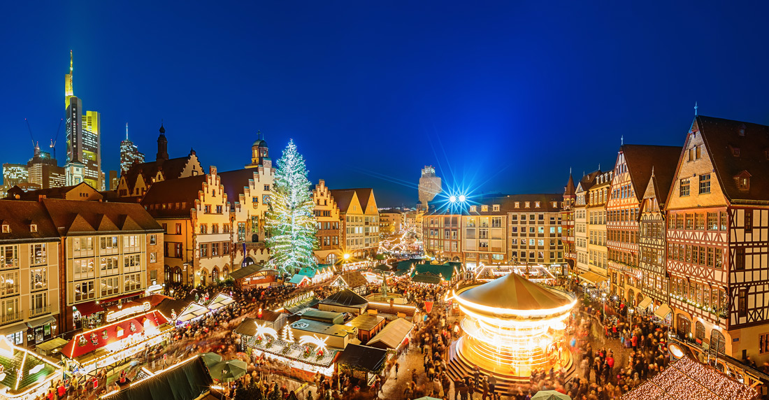 Traditional Christmas market in Europe