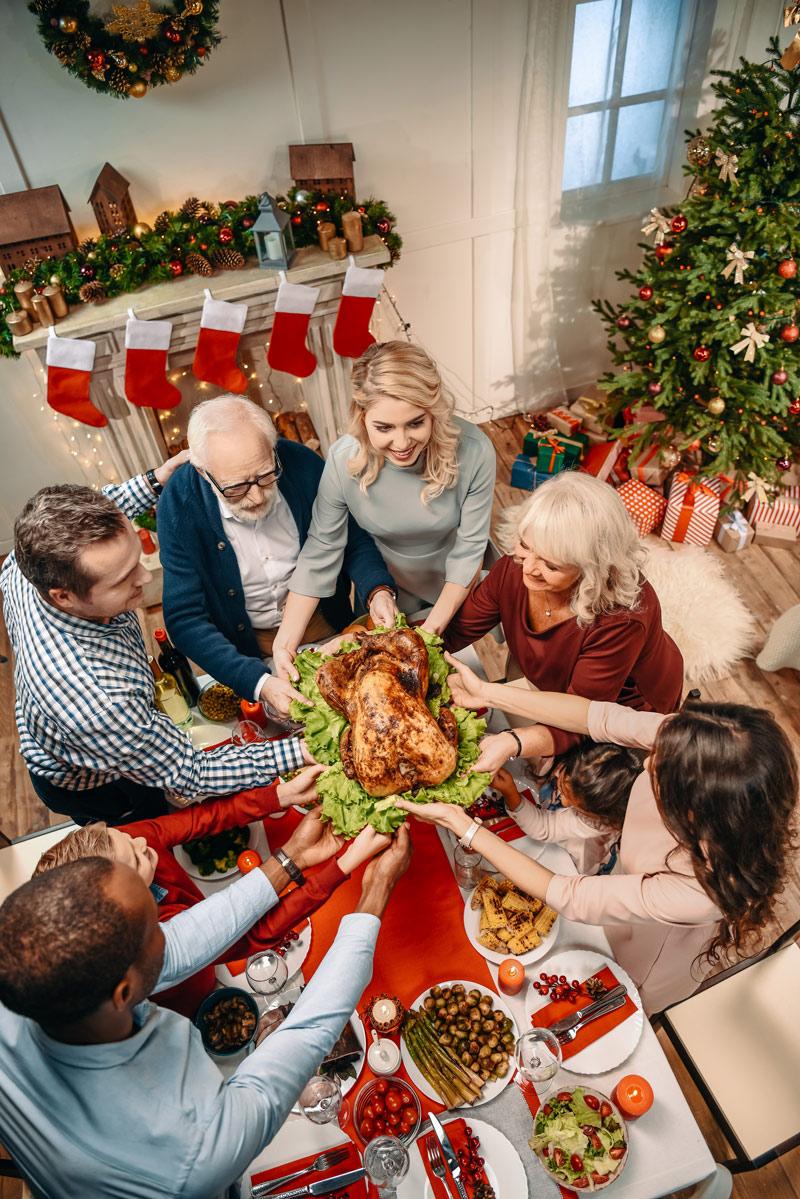 Family reunion for Christmas