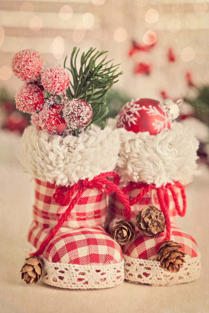 Boots with gifts for Saint Nicholas