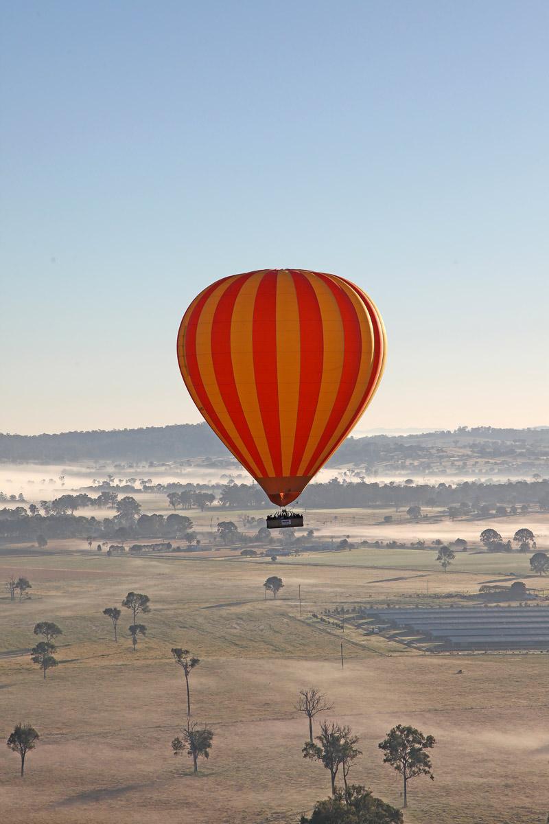 Hot air ballooning in Australia