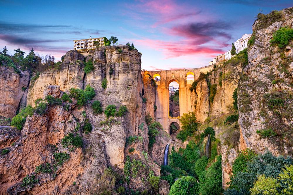 Romantic town in Spain