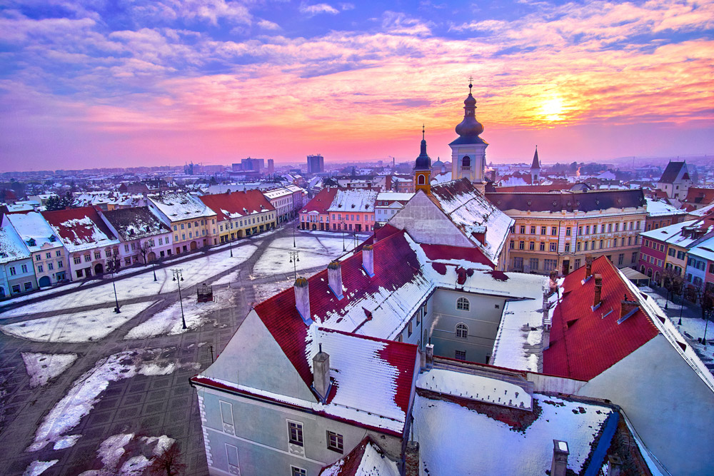 Medieval town in Transylvania