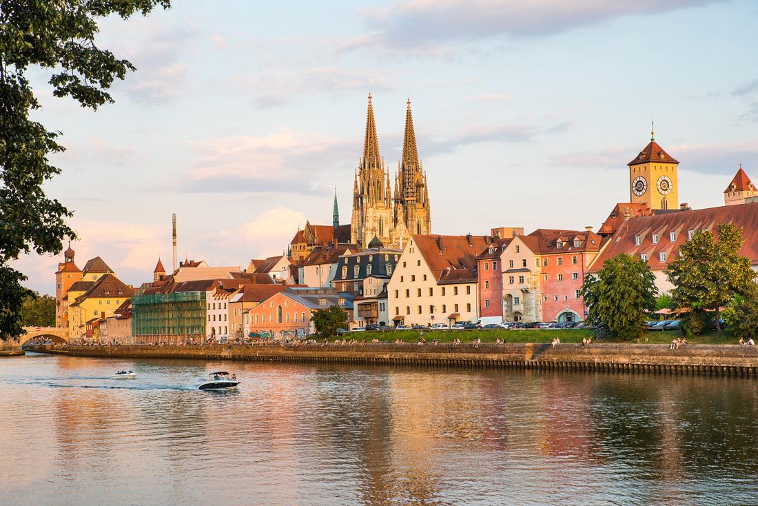 Danube River in Regensburg