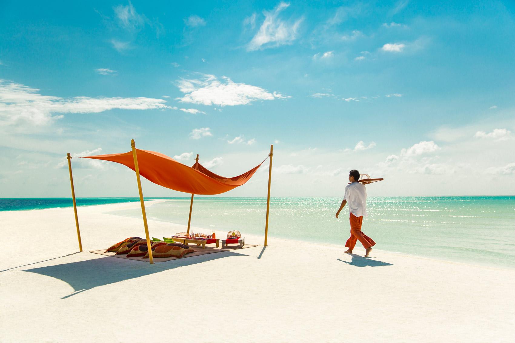 Beach picnic in the Maldives