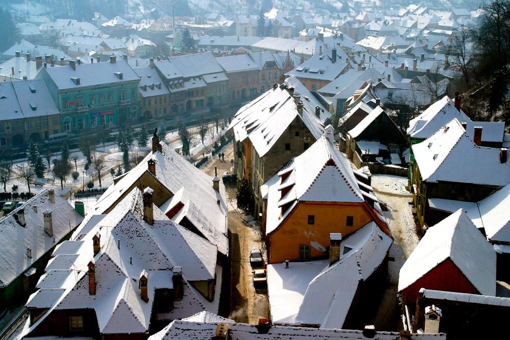 Medieval village in Romania
