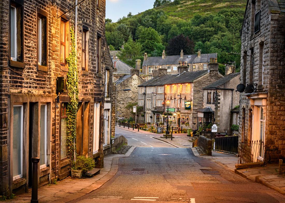 British village in autumn