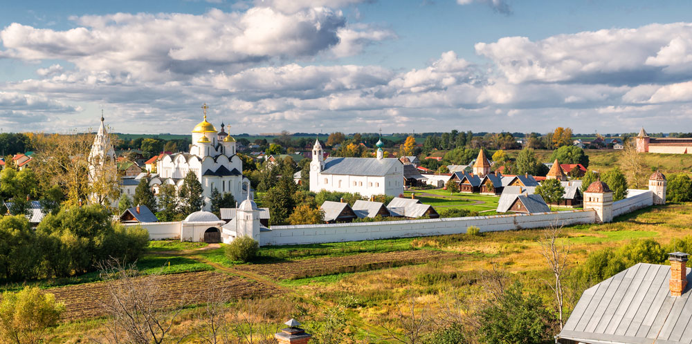 Traditional Russian village