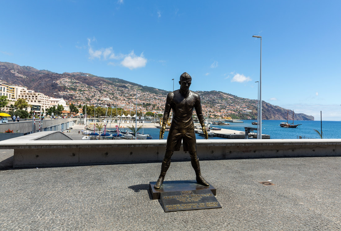 Ronaldo statue in Funchal