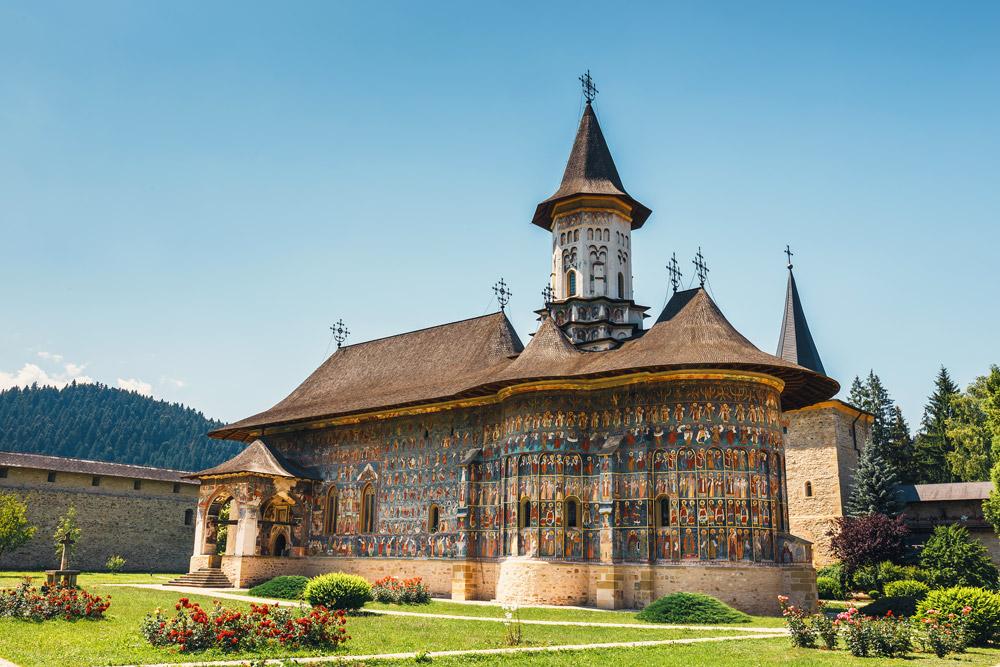Painted monastery in Bucovina