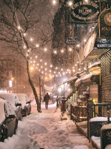 Winter in East Village