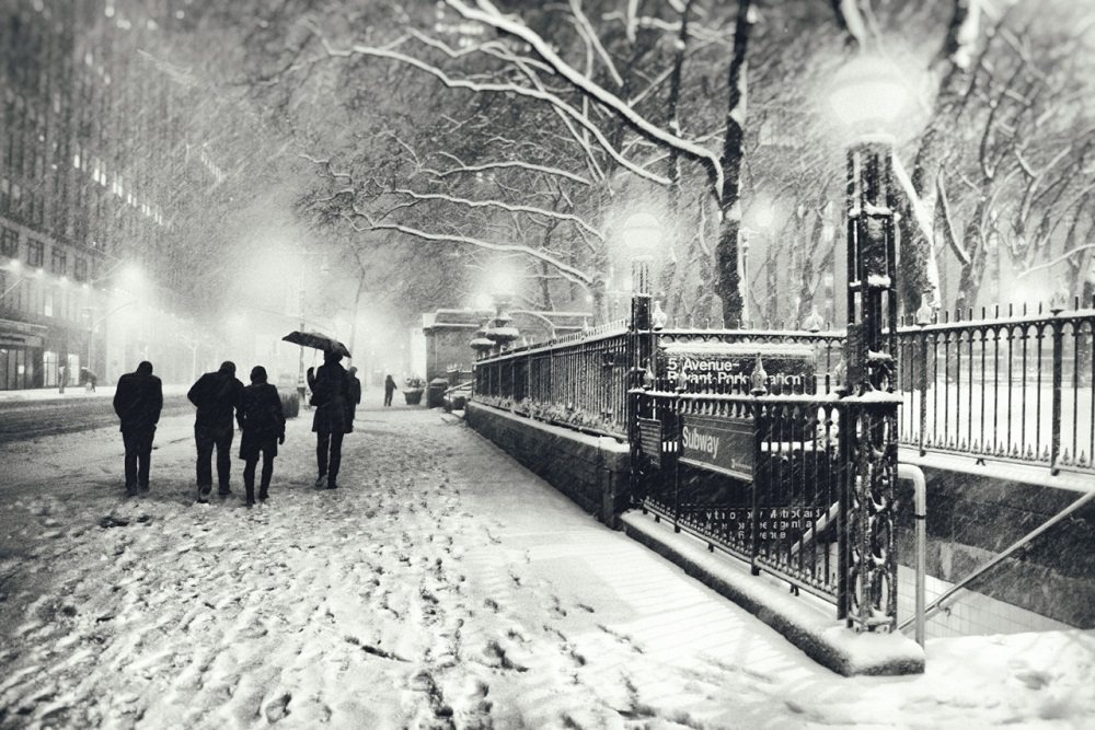 Snowy Fifth Avenue