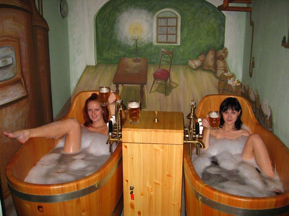 Girls at Beer Spa