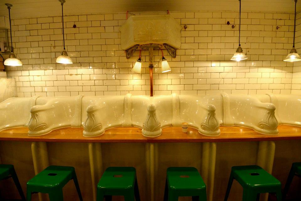 Urinal bank seating