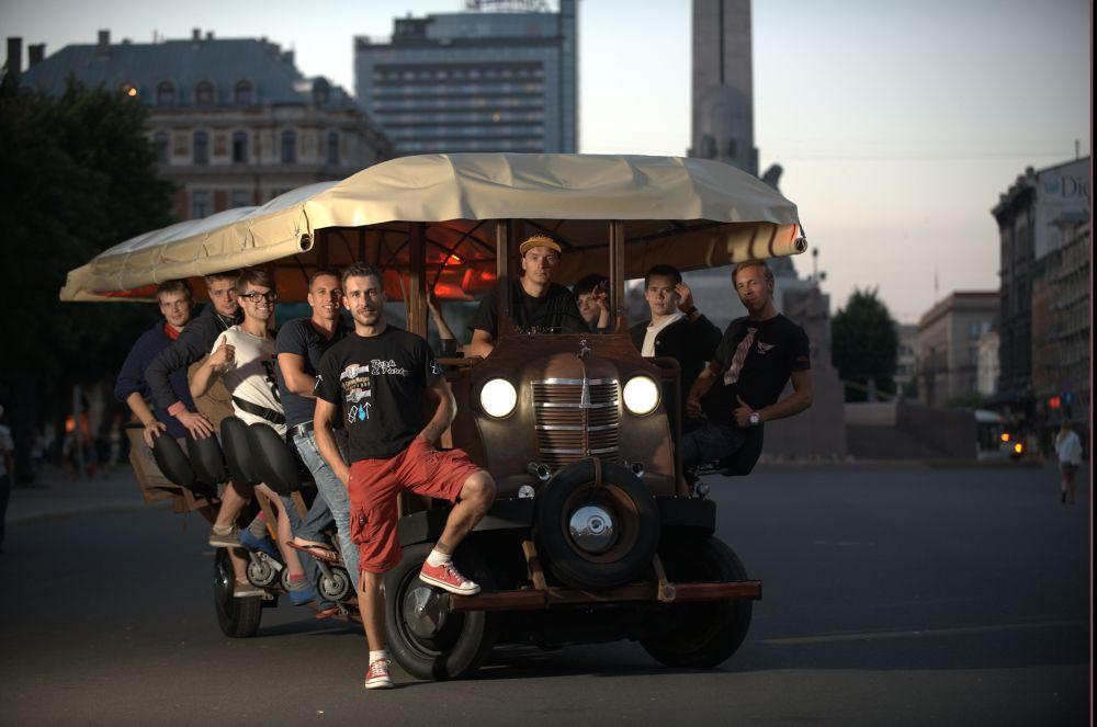 Partybike in Riga