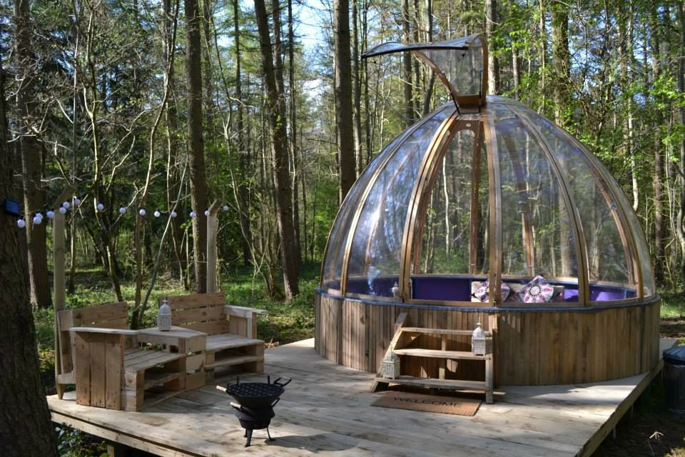 Glamping in a dome