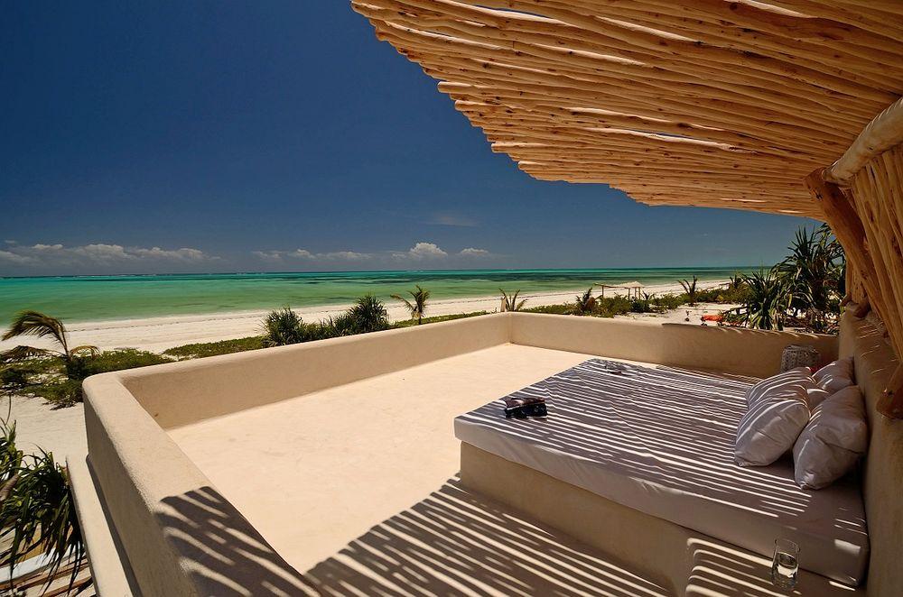 Beachfront Bed in Zanzibar