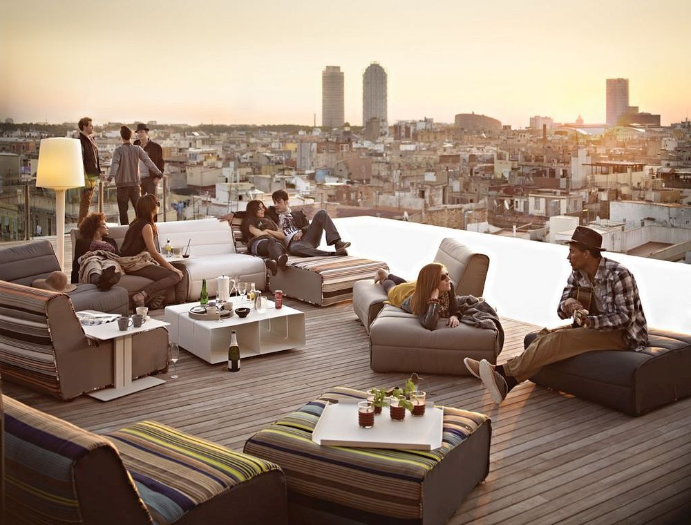 Rooftop Bar in Barcelona