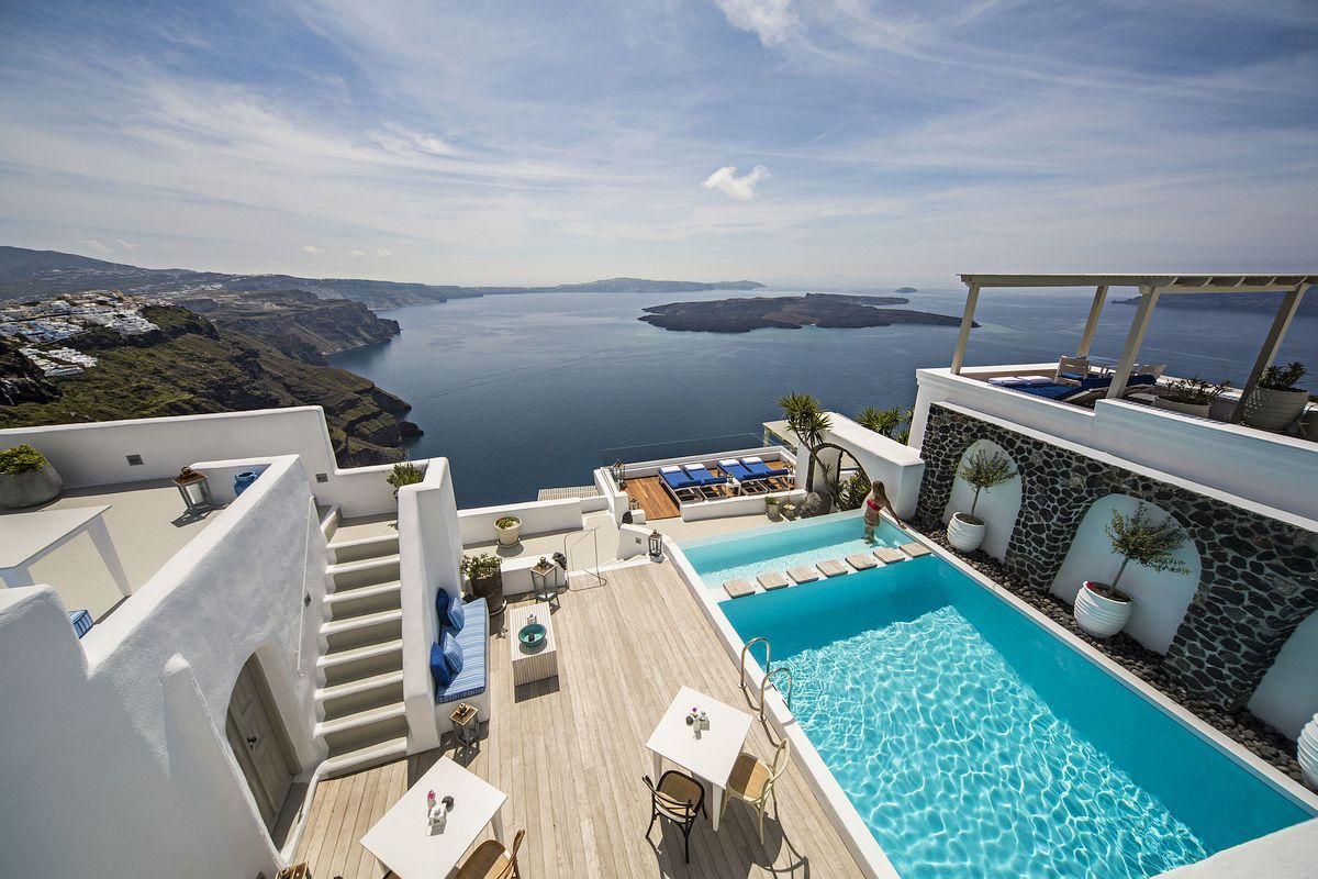 Rooftop Pool in Santorini