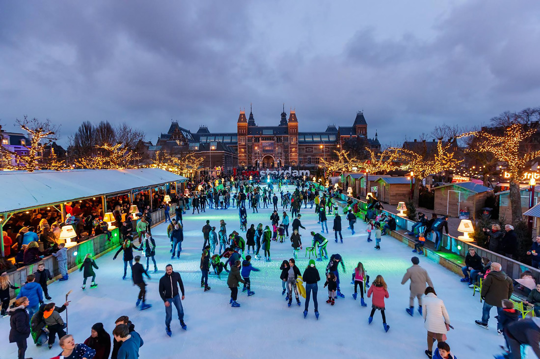 Skating rink in Amsterdam