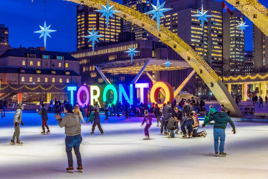 Ice skating rink in Toronto