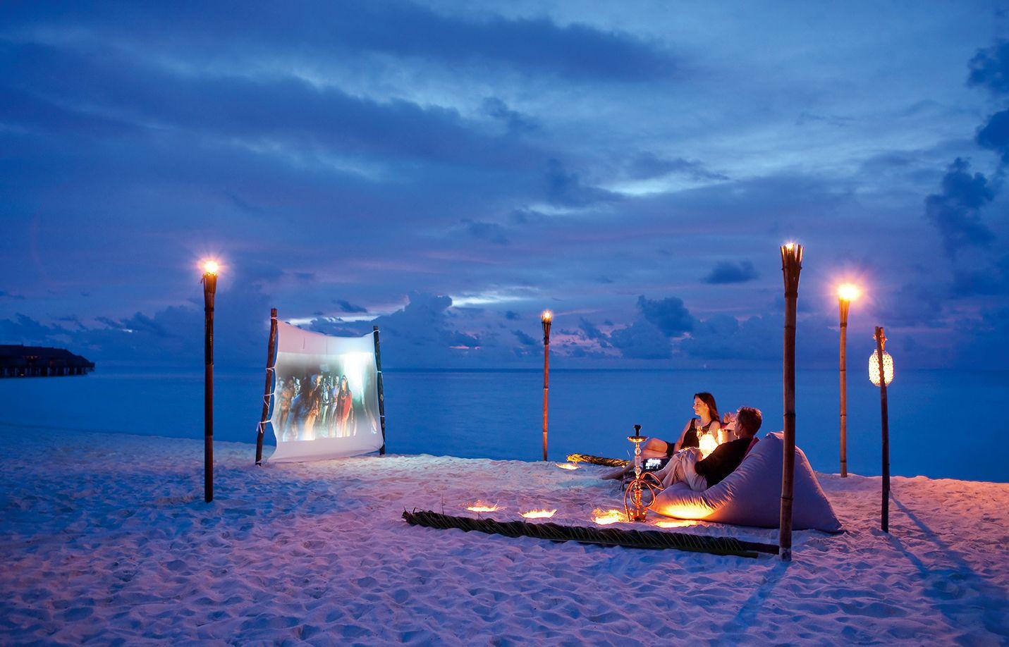 Outdoor Cinema in Maldives