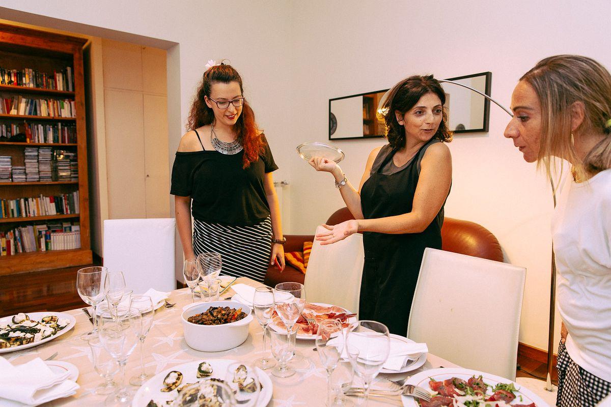 Traditional Roman dinner