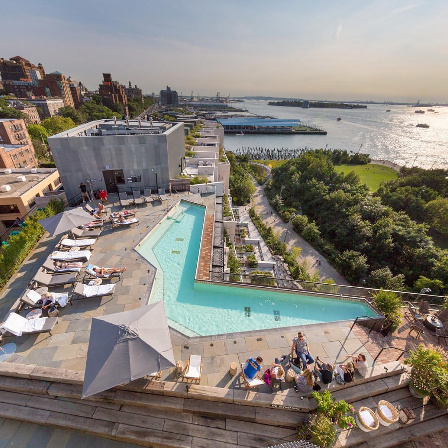 Rooftop pool in NYC