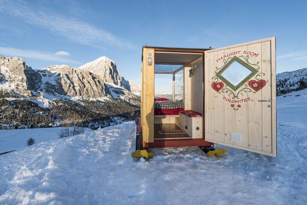 Mobile Cabin in the Dolomites