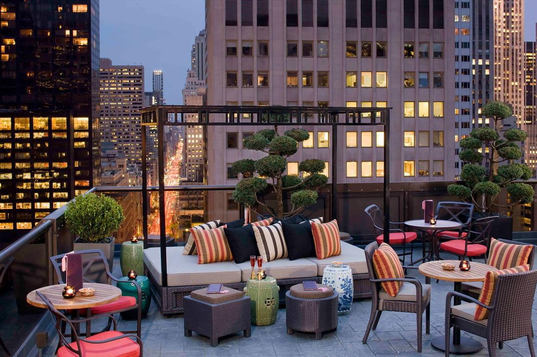 Rooftop bar at the Peninsula Hotel