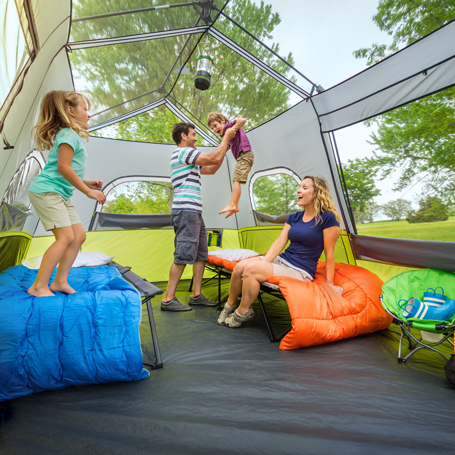 Spacious tent for camping