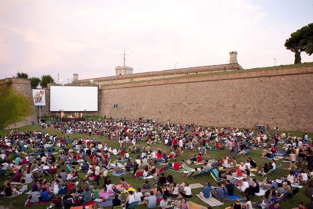 Outdoor cinema in Barcelona
