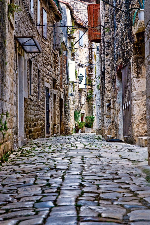 Stone street in Trogir