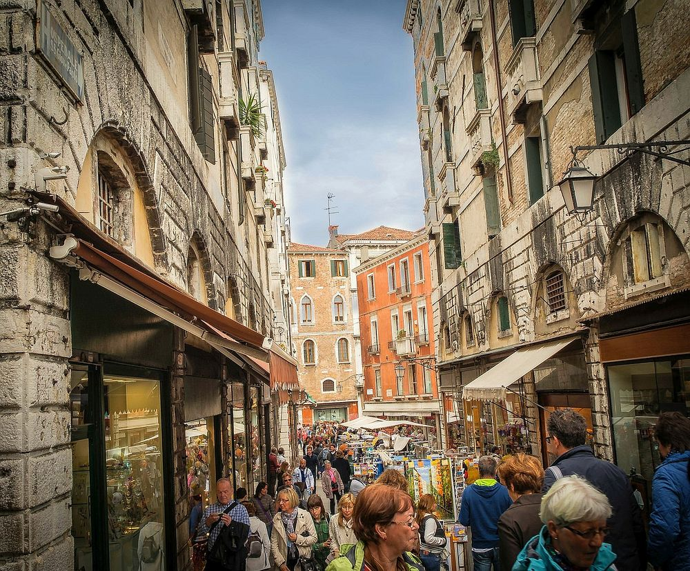 Shopping street in Venice