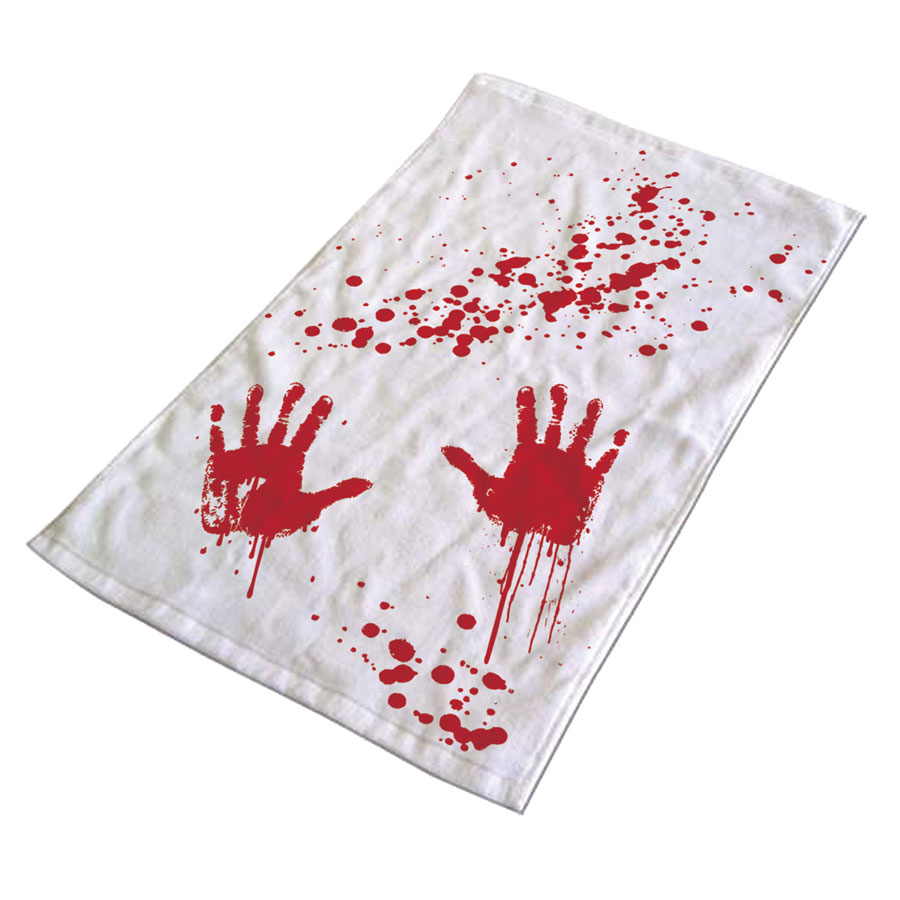 Towel with blood stains