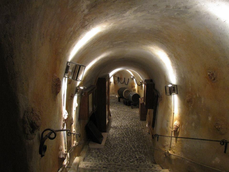 Underground wine museum in Santorini