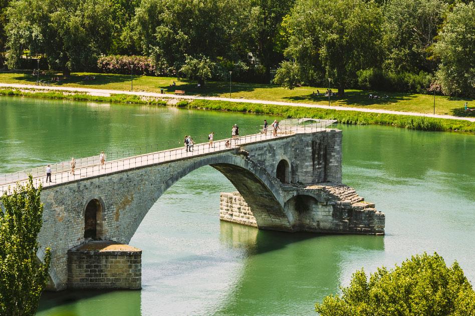 Unfinished bridge in Avignon