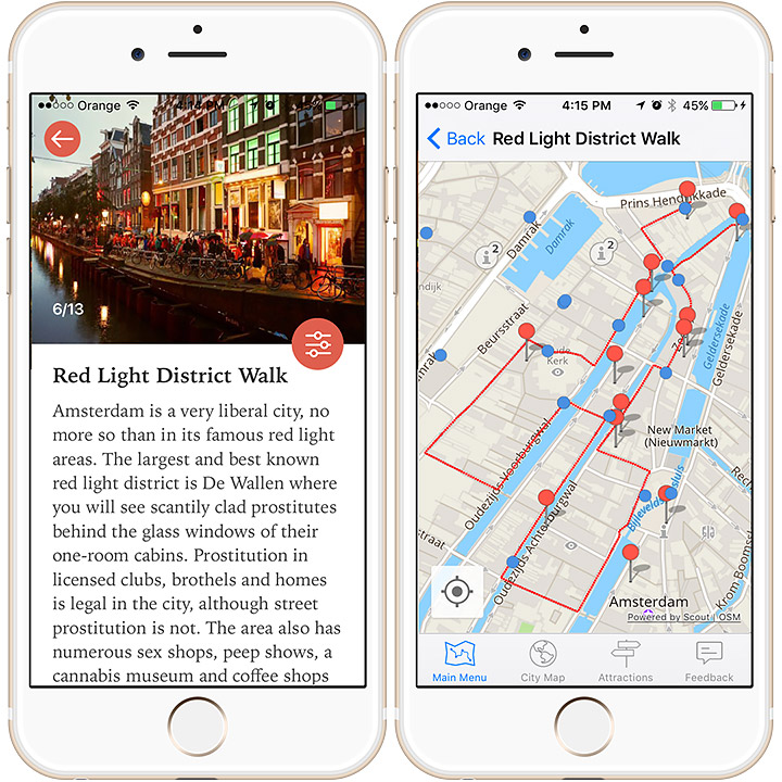 Explore cities by foot with this app