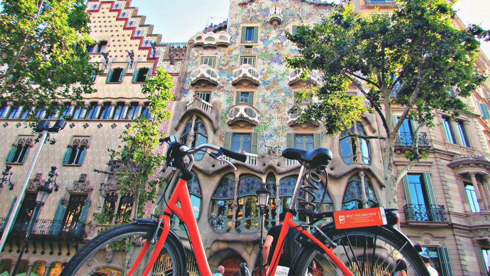 Rental bike in Barcelona