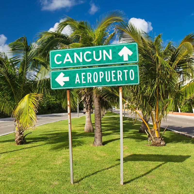 Street sign in Cancun