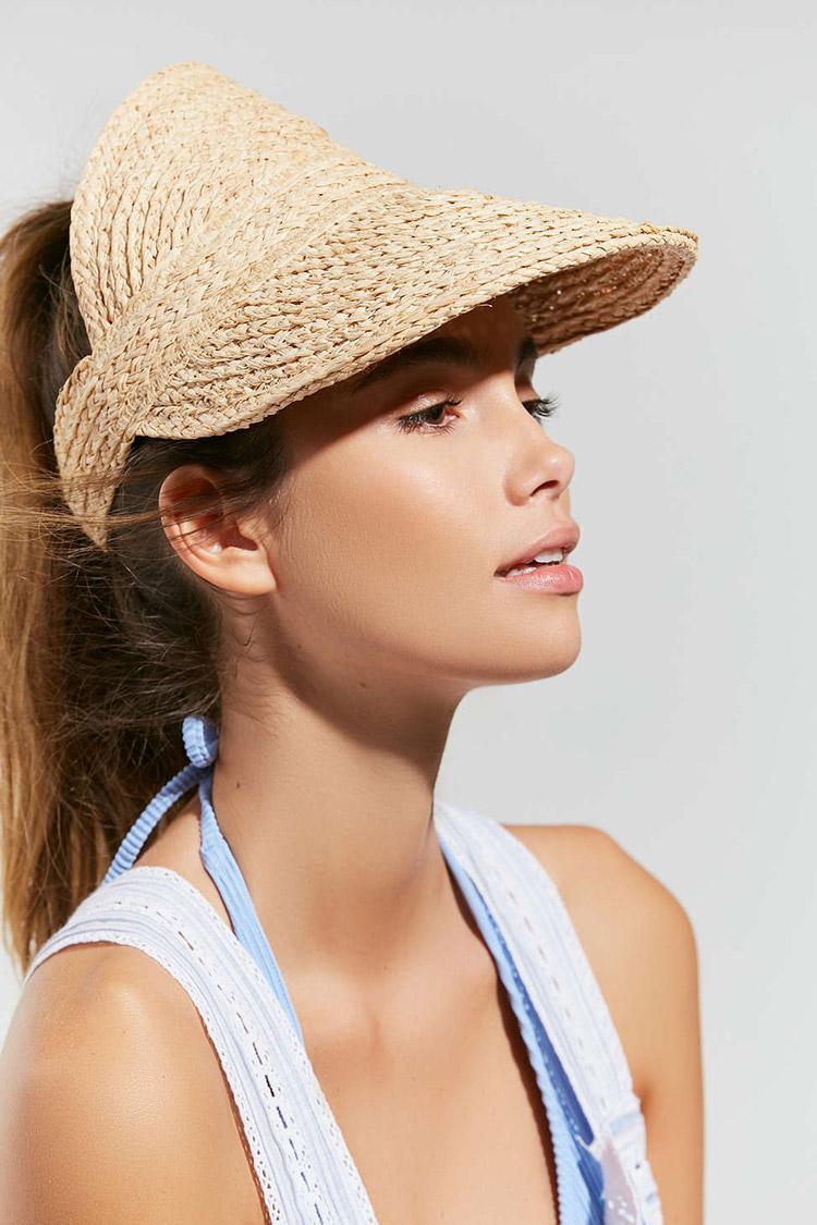 Vintage-inspired straw visor