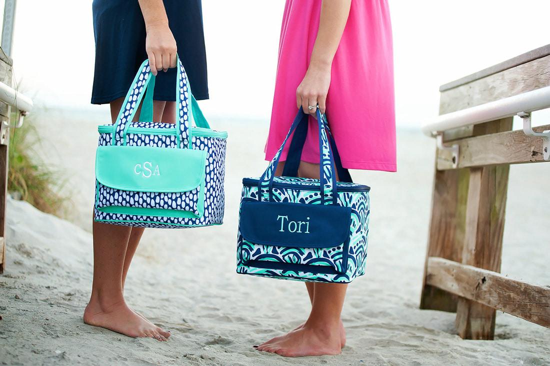 Monogrammed cooler bag